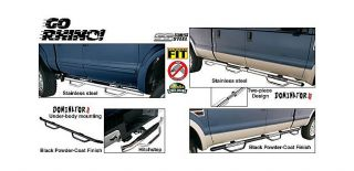 Go Rhino Dominator Side Steps and Hitch Step