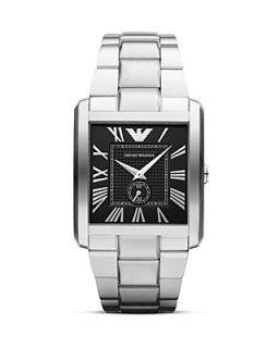 Emporio Armani Silver Stainless Steel Watch, 34.5 x 36.5mm