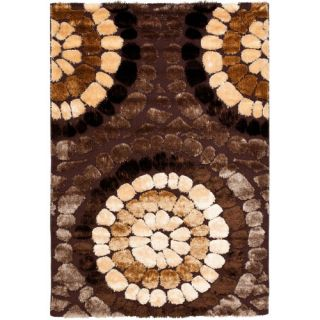 Safavieh Miami Shag Brown/Multi Rug