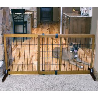 Carlson Pet Extra Tall Wood Free standing Pet Gate   16214467