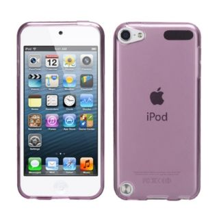 Insten Purple Clear Jelly TPU Rubber Candy Skin Matte Case Cover For
