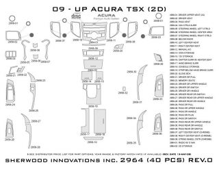 2009 2013 Acura TSX Wood Dash Kits   Sherwood Innovations 2964 CF   Sherwood Innovations Dash Kits