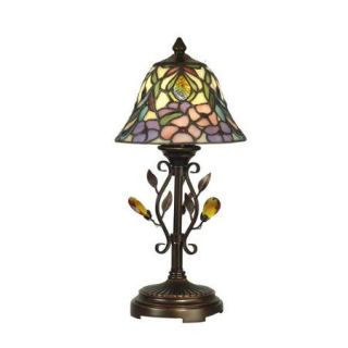 Dale Tiffany Crystal Peony 15.25'' H Table Lamp with Bell Shade