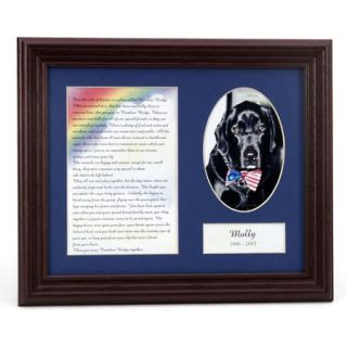 Personalized My Forever Friend Pet Rainbow Bridge Memorial Frame