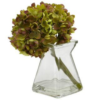 Nearly Natural Hydrangea in Vase