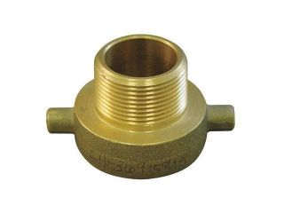 MOON AMERICAN 369 1521511 Fire Hose Adapter, NHxNPSH Male, Brass