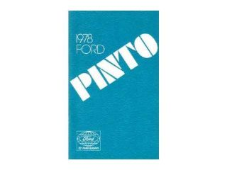 1978 Ford Pinto Owners Manual User Guide Reference Operator Book Fuses Fluids