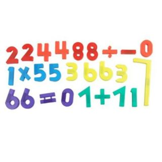 26 x Plastic Arabic Numbers Fridge Magnet Color Block