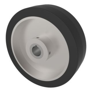 "CASTER CONCEPTS INC. 1 3/4"" Bore Dia. 1000 Load Rating Rubber Drive Wheels   Drive Wheels   39UT54