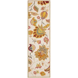 Safavieh Indoor/ Outdoor Four Seasons Ivory/ Yellow Rug (26 x 4