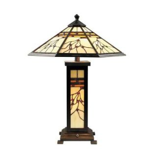 Dale Tiffany 25 in. Mission Hills Antique Golden Sand Table Lamp TT70331