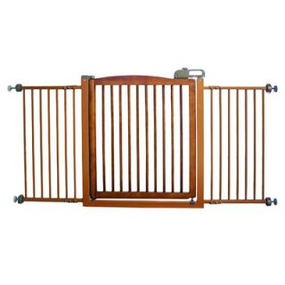 Richell Extra Wide One Touch Wooden Pet Gate