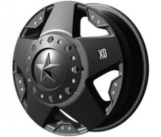 XD Wheels   XD775 Rockstar Dually, 16x6 with 8 on 170 Bolt Pattern   Matte Black