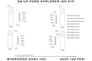 2010 Ford Explorer Wood Dash Kits   Sherwood Innovations 2407 R   Sherwood Innovations Dash Kits