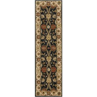 Safavieh Lyndhurst Collection Majestic Black/ Ivory Runner (23 x 6)