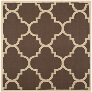 Safavieh Indoor/ Outdoor Courtyard Brown Rug (710 Square)   15475290