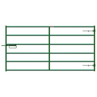 Big Valley 10 ft. W x 4 ft. H Green Steel Heavy Duty Gate 40120102