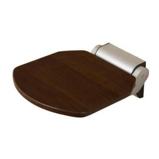 14 in. Teak Wall Mount Folding Shower Seat in Wenge ISS103