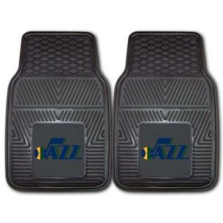 FANMATS Utah Jazz Musical Note Logo 18 in. x 27 in. 2 Piece Heavy Duty Vinyl Car Mat 11807