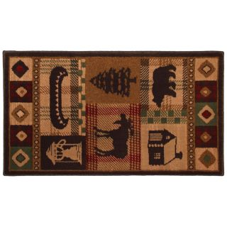 Mohawk Home Westland Dark Brown Rectangular Indoor Woven Throw Rug (Common 2 x 3; Actual 25 in W x 44 in L x 0.5 ft Dia)