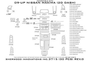 2010, 2011 Nissan Maxima Wood Dash Kits   Sherwood Innovations 3715 R   Sherwood Innovations Dash Kits