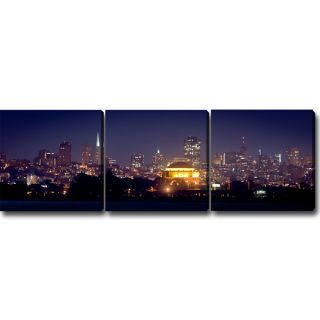 Night of San Francisco Canvas Art (Set of 3)   15073642