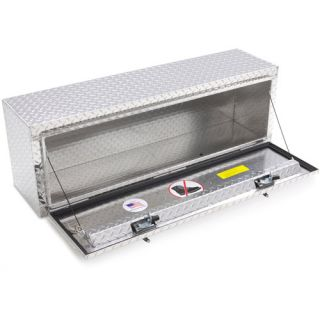 Lund 8148 48 Inch Aluminum Top Mount Truck Tool Box, Diamond Plated, Silver