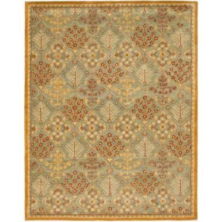 Safavieh Antiquity Light Blue/Gold 7 ft. 6 in. x 9 ft. 6 in. Area Rug AT613A 8