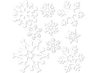 Club Pack of 216 Snowflake Christmas Party Cutout Decorations 12""