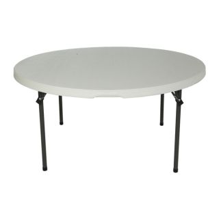 Lifetime 60 Inch Almond Round Commercial Stacking Folding Table