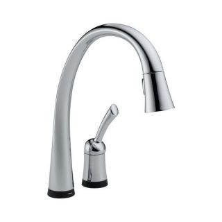 Delta Pilar Chrome Single Handle Pull down Kitchen Faucet with Touch2O