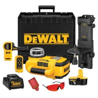 DEWALT 18 Volt Self Leveling Rotary Laser Level Interior/Exterior Kit DW079KD