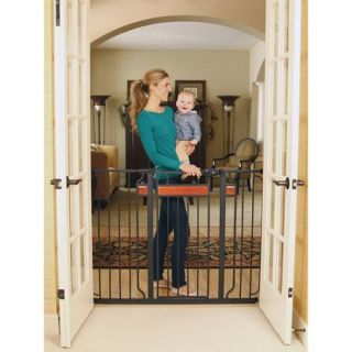 Regalo Home Accents Extra Tall Baby Gate with New Zealand Pine Wood with 2 Included Extension Kits