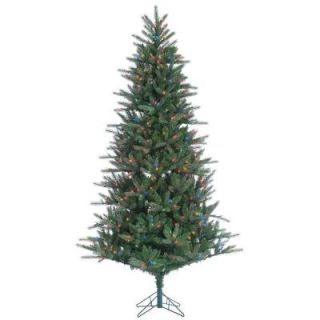 Sterling 7.5 ft. Pre Lit Natural Cut Franklin Spruce Artificial Christmas Tree with Multi Lights 6256  75M