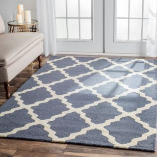 nuLOOM Hand Hooked Alexa Moroccan Trellis Wool Rug (6 x 9)   (As Is