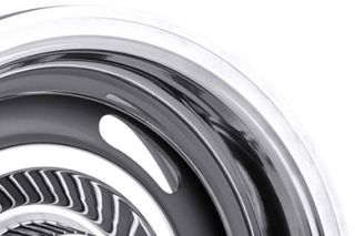 "Vision 55 5604   5 x 114.3mm or 5 x 120.65mm Dual Bolt Pattern Silver 15"" x 6"" 55 Silver Rally Wheels   Steel Wheels & Rims"