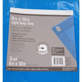 8 ft. x 10 ft. Light Duty Tarp PYLT810