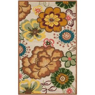 Safavieh Four Seasons Ivory/Brown 2 ft. 6 in. x 4 ft. Indoor/Outdoor Area Rug FRS467A 24