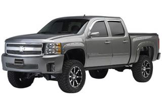 2007 2011 Chevy Silverado Pocket Style Fender Flares   Rugged Ridge 81630.20   Rugged Ridge Off Road Fender Flares