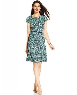 Jessica Howard Mosaic Print Belted Dress   Dresses   Women