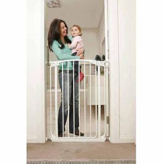 Dreambaby Chelsea Extra Tall Auto Close Security Gate with Extensions, White