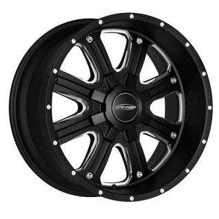 Pro Comp Alloy Wheels   Series 5182, 20x9.5 with 6 on 5.5 and 6 on 135 Bolt Pattern    Matte Black Machine