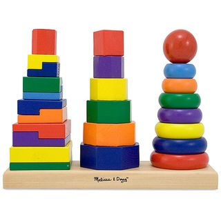Melissa & Doug Geometric Stacker Set   13862885