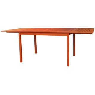 Eco friendly 82 inch Outdoor Eucalyptus Rectangular Dining Table