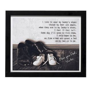 Personalized Daddy's Shoes Print