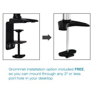 Sit Stand Extended Air Assist Monitor Arm Height Adjustable Desk Mount