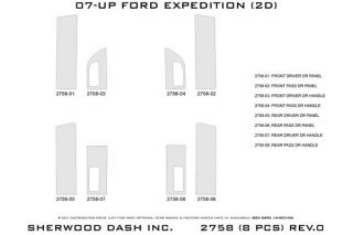 2007 2013 Ford Expedition Wood Dash Kits   Sherwood Innovations 2758 R   Sherwood Innovations Dash Kits