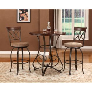 Hamilton Pub Table & Swivel Bar Stools 3 Piece Set