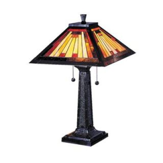 Dale Tiffany 24 in. Mission Camelot Mica Bronze Table Lamp 7560/965