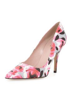 kate spade new york licorice floral pointed toe pump, multi